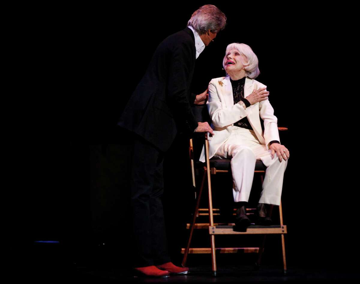 """Tony Award-winning Tommy Tune interviews fellow Broadway legend Carol Channing in """"Time Steppin' """" at the Curran."""