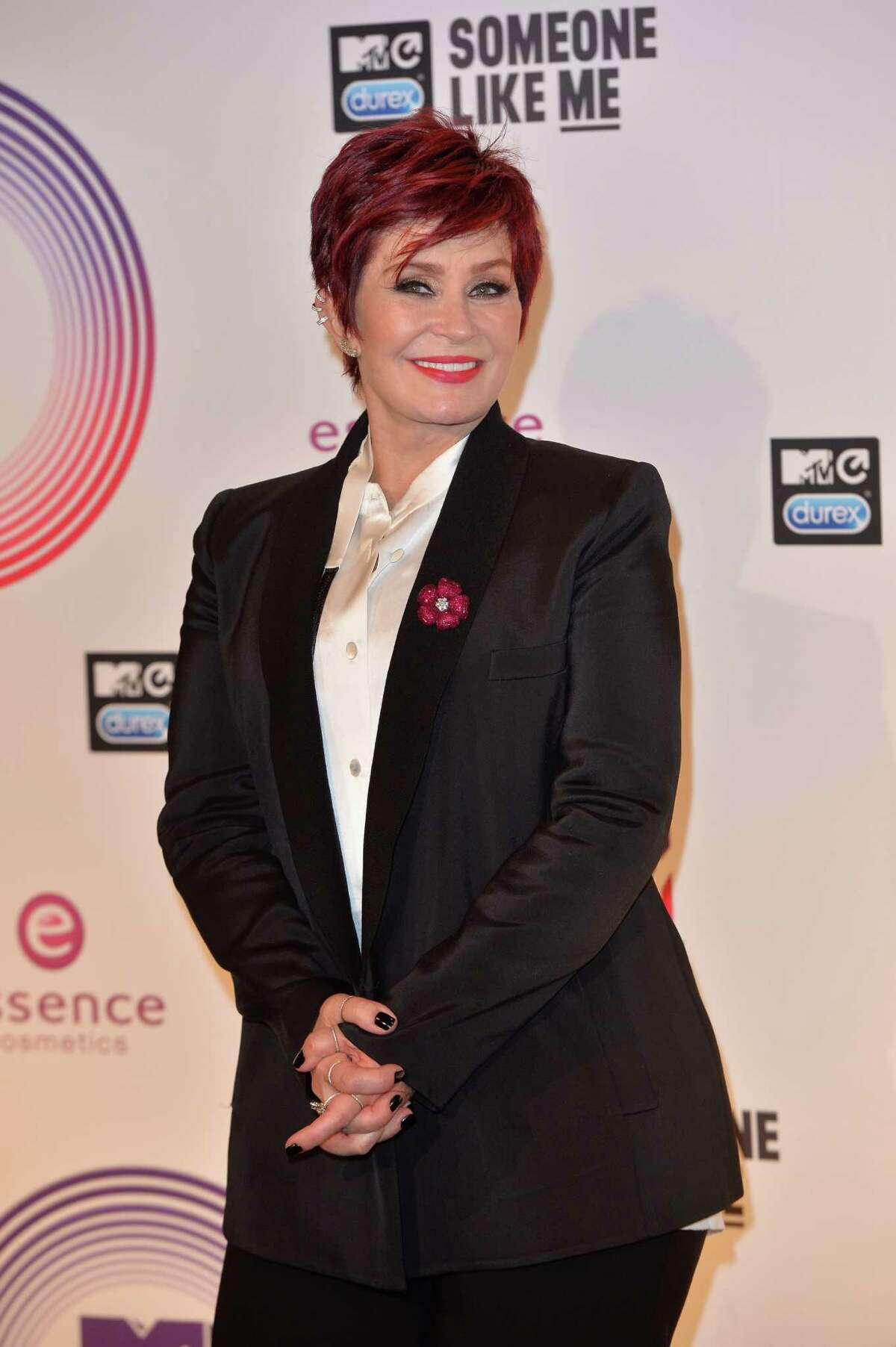 GLASGOW, SCOTLAND - NOVEMBER 09: Sharon Osbourne poses in the winners room at the MTV EMA's 2014 at The Hydro on November 9, 2014 in Glasgow, Scotland.