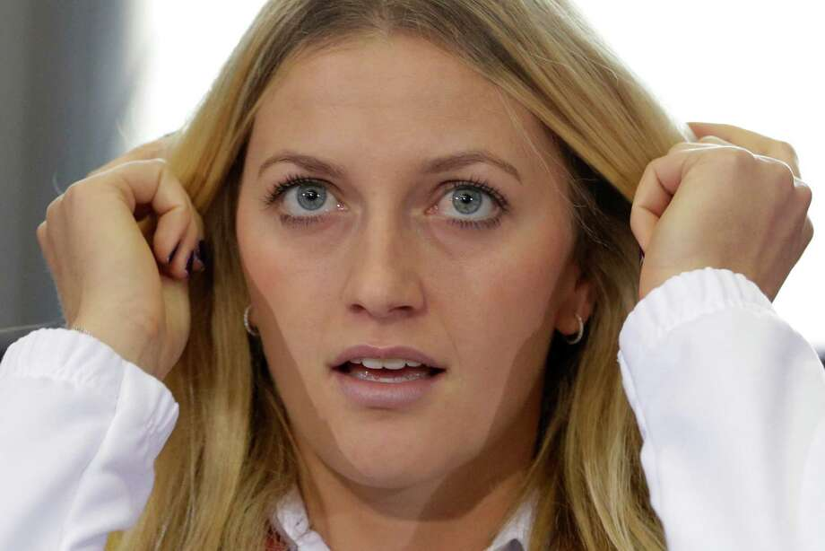 Czech Republic's Petra Kvitova attends the  draw for the tennis  Fed Cup Final between Czech Republic and Germany in Prague, Czech Republic, Friday, Nov. 7, 2014. (AP Photo/Petr David Josek) ORG XMIT: PJO103 Photo: Petr David Josek / AP