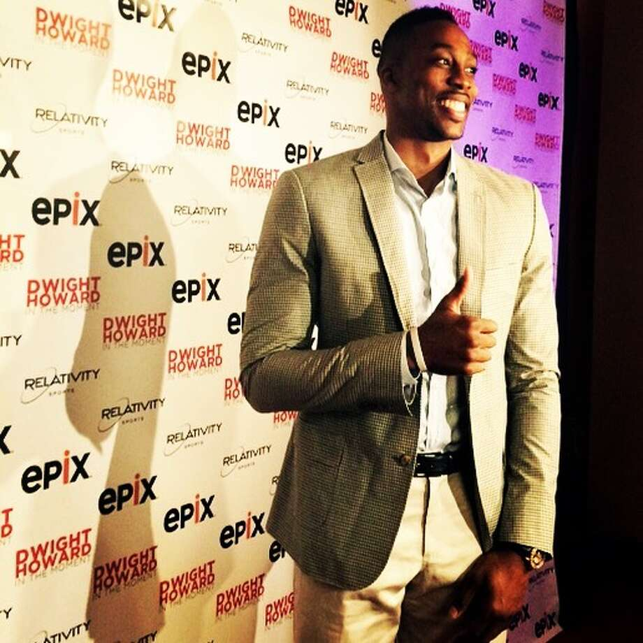 Dwight Howard at the Wortham Theater for the premier of a documentary about his basketball career. Nov. 9, 2014