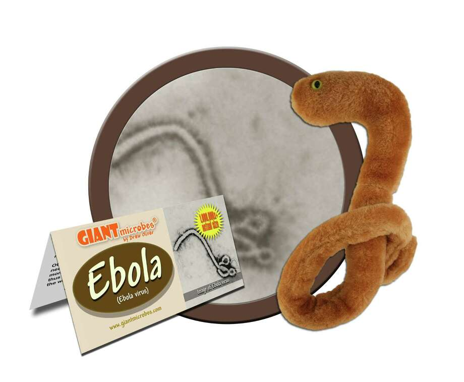 The stuffed ebola doll by Stamford's Giant Microbes has been selling so rapidly the company had to have more made. Photo: Contributed Photo / Greenwich Time Contributed