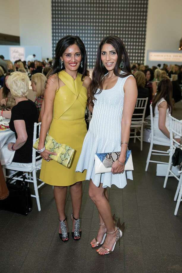 Komal Shah and Sobia Shaikh at The Art of Fashion: Runway Show and Luncheon at the de Young on November 3, 2014. Photo: Drew Altizer, Drew Altizer Photography / Drew Altizer Photography