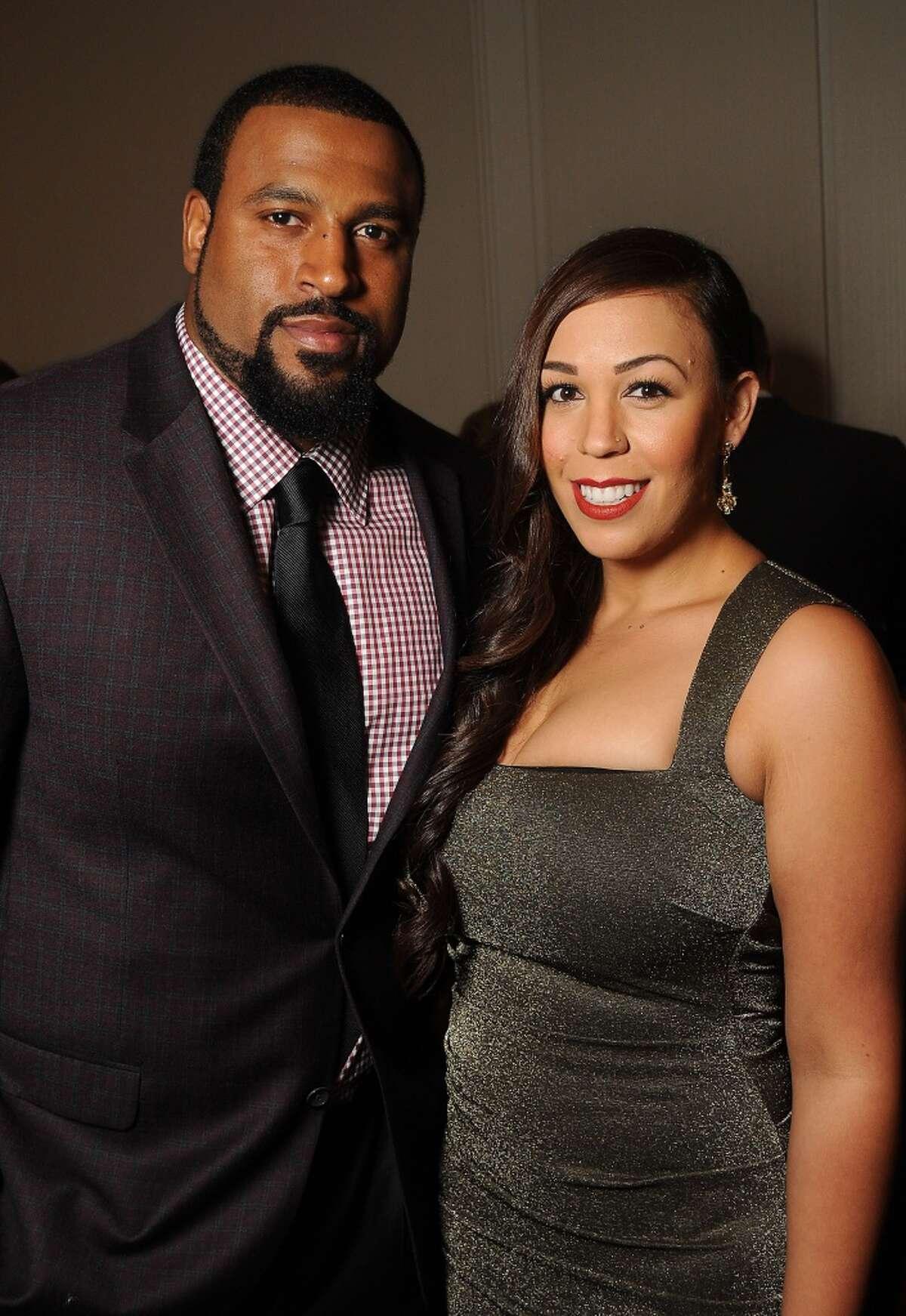 November : Duane Brown and his wife Devi at the Festari Una Notte in Italia fashion show and dinner.