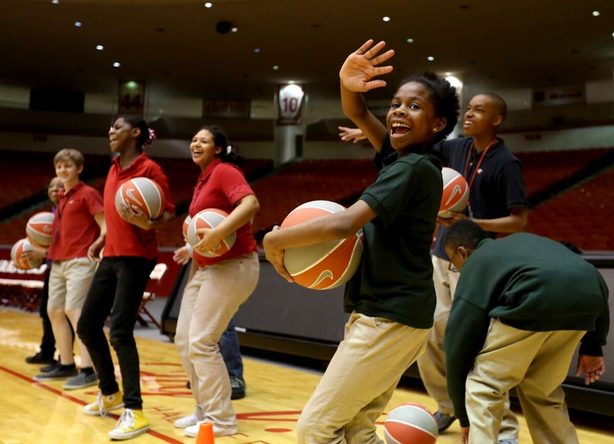 #13 Houston ISDPercent of students receiving special education services: 7.17 percentNumber of students receiving special education services: 15,487Total enrollment in 2016-2017: 216,106 Dajshian White, a sixth-grader at West Briar Middle, does a dance during a dribbling drill at a Special Olympics Basketball Camp inside Hofheinz Pavilion on the campus of UH Monday, Nov. 10, 2014, in Houston, Texas. The university welcomed more than 50 special-needs middle school students in a collaboration between Houston Men's Basketball, HISD Special Education and Houston/Texas Special Olympics. ( Gary Coronado / Houston Chronicle )