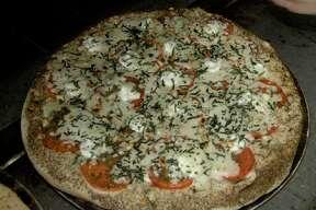 The Pesto Street pizza at Rome's Pizza.