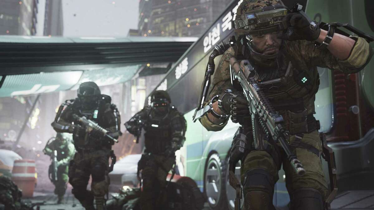 This photo courtesy of Activision shows a scene from the video game,