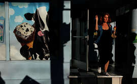 Suzanne Kissinger of San Francisco exits Ben & Jerry's ice cream shop on Haight Street on Nov. 8, 2014. Kissinger is a baker and prefers to use alcohol in lieu of sugar in her recipes.