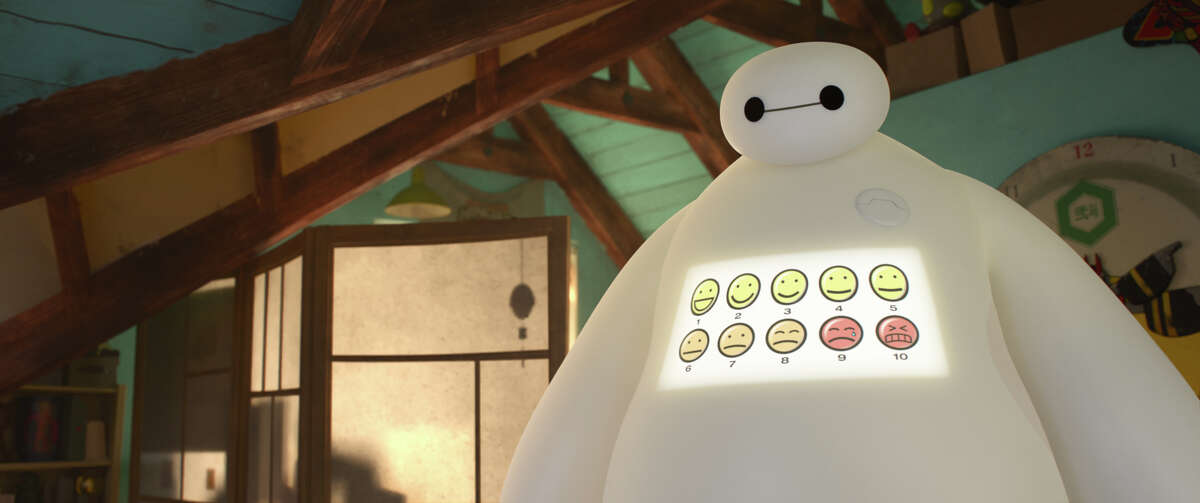 Briggs says he's especially proud of an early scene between Hiro and Baymax that he worked on.