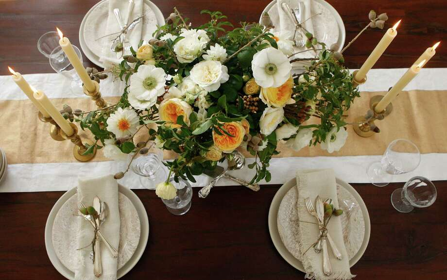 """When Caitlin Flemming entertains, she decorates her home with """"blooms in season""""— a phrase that inspired an ongoing collaboration on her blog with florist Natalie Bowen of Natalie Bowen Designs. Photo: Liz Hafalia / The Chronicle / ONLINE_YES"""