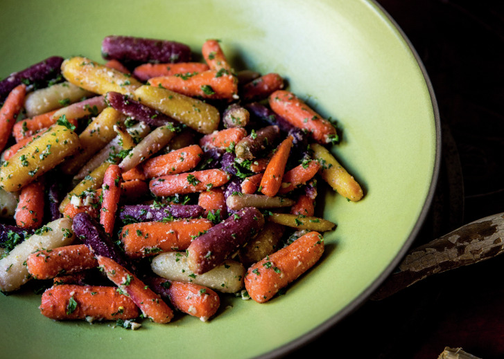 Bi-Rite Market owner Sam Mogannam makes his mother's Heirloom Carrots With Lemony Tahini Dressing but likes to tweak the recipe.