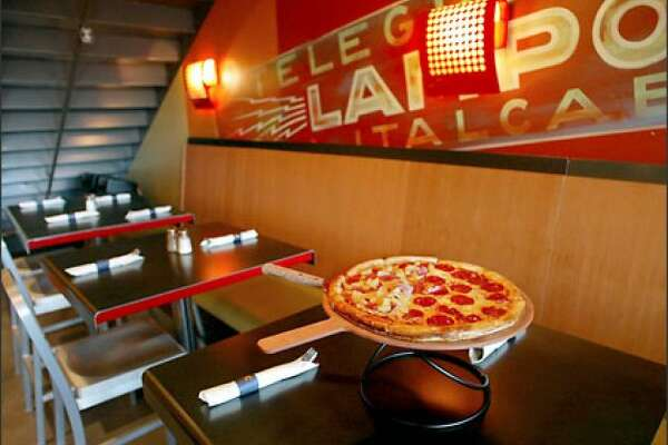 Pagliacci in Bellevue, where you sit down and enjoy a pie, or get slices to go.