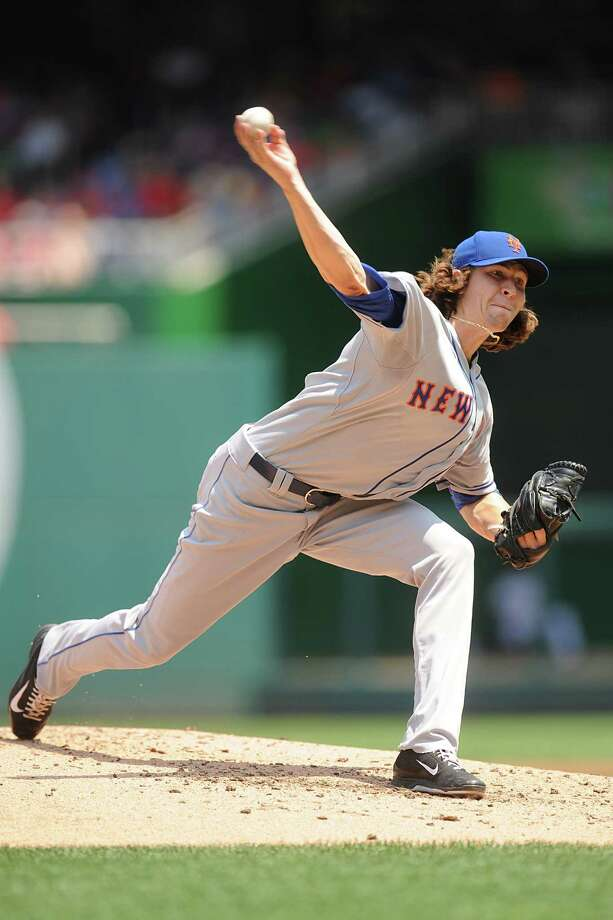 WASHINGTON, DC - AUGUST 7:  Jacob deGrom #48 of the New York Mets pitches in the first inning during a baseball game against the New York Mets on August 7, 2014 at Nationals Park in Washington, DC.  (Photo by Mitchell Layton/Getty Images) ORG XMIT: 477587601 Photo: Mitchell Layton / 2014 Getty Images