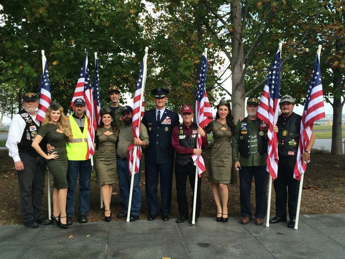 American Bombshells is a non-profit group who travels all over the country to visit troops. From veterans who served decades ago in World War II, to wounded heroes coming home from Afghanistan- these ladies show gratitude with a smile and a song. Check out a few of their past events.
