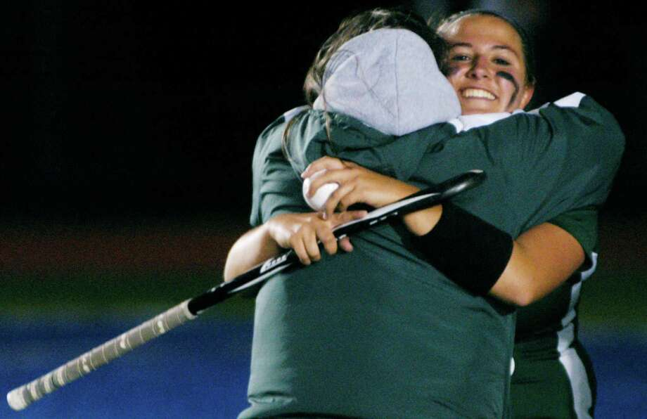 Coach Dawn Hough's New Milford High School field hockey team recently scored a 1-0 victory over Pomperaug in the South-West Conference championship match, Oct. 31, 2014 at Brookfield High School. Since then, their sights have been set on adding a state class 'L' title to their cache of honors. Photo: Norm Cummings / The News-Times