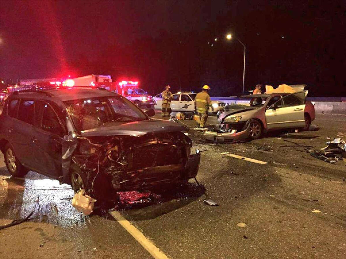 This Washington State Patrol photo shows the aftermath of the Tacoma crash.