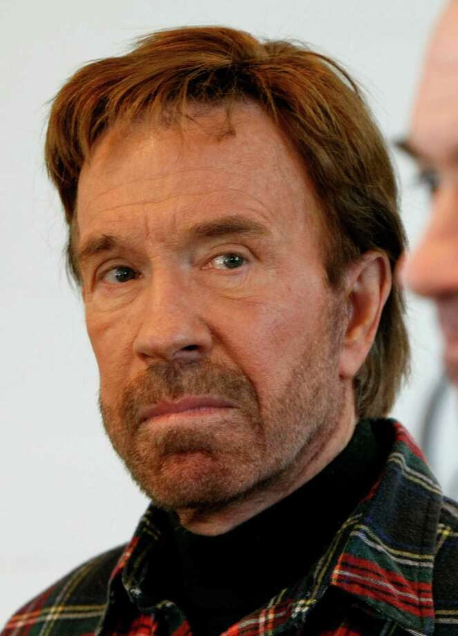 "Chuck Norris - (U.S. Air Force 1958-1962) Born Carlos Ray, the martial arts champion earned his nickname ""Chuck"" while stationed in South Korea as an Air Policeman. Photo: Gerald Herbert, AP Photo/Gerald Herbert / AP2008"