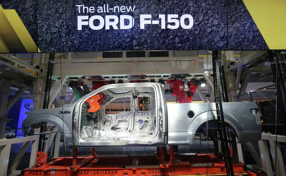 DETROIT, MI- JANUARY 14  -  The aluminium frame and body of the all-new F-150 is part of a display that shows how it is welded at  the  North American International Auto Show at Cobo Convention Center in Detroit. January 14, 2014. Photo: Steve Russell, Getty Images / Steve Russell/Toronto Star 2014