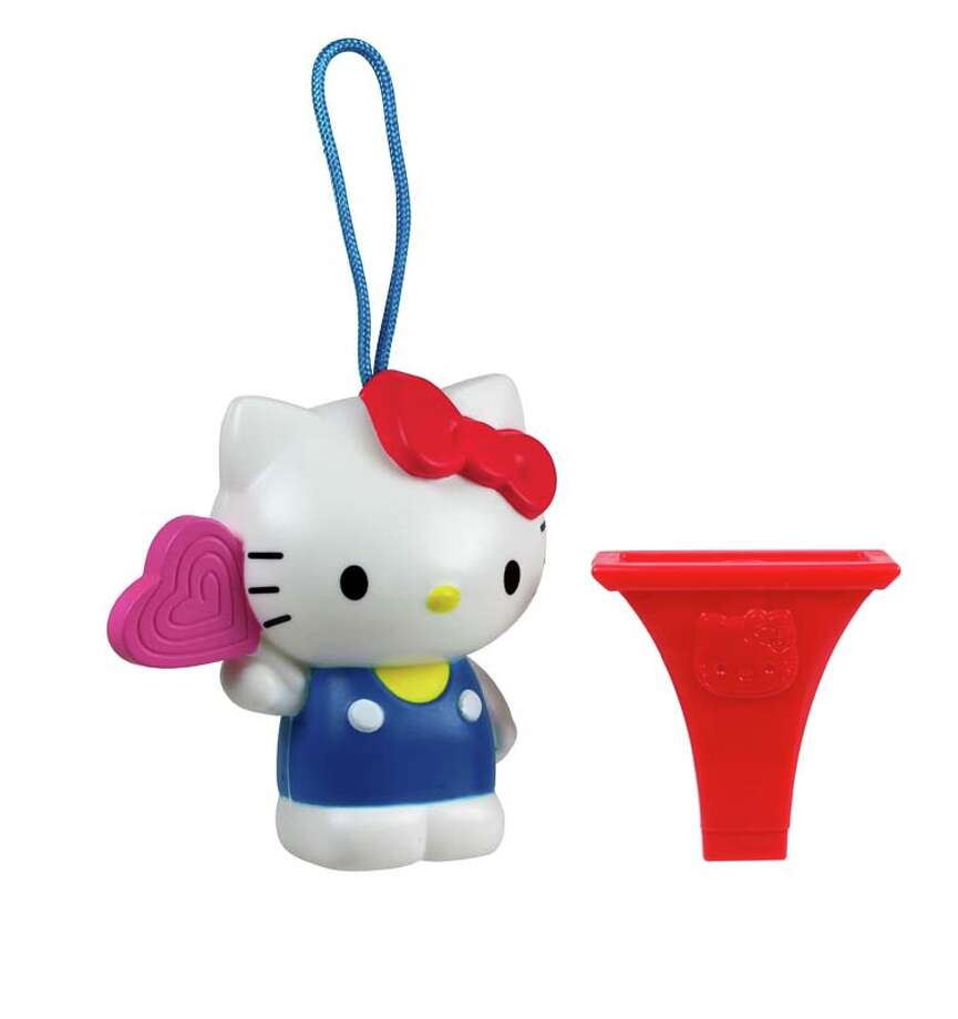 """McDonald's has issued a recall notice for this """"Hello Kitty Birthday Lollipop"""" and whistle advising that """"components inside of the whistle can detach posing choking and aspiration hazards to young children.""""PHOTOS: 20 strange and dangerous products ... Photo: CPSC.gov"""