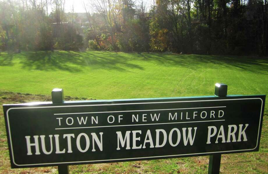 Former Hulton family property along Grove Street is now known as Hulton Meadow Park in memory of the Hulton family patriarch, James Hulton. October 2014 Photo: Norm Cummings / The News-Times