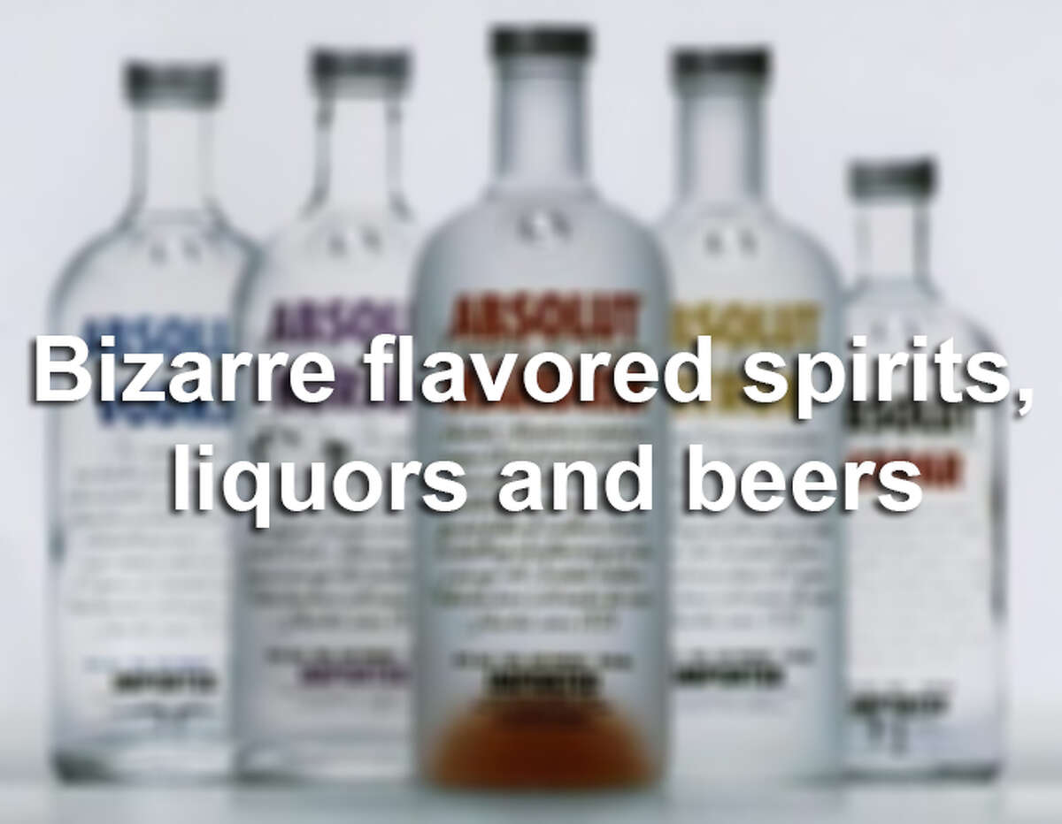 Scroll through for some funky flavored alcohol.