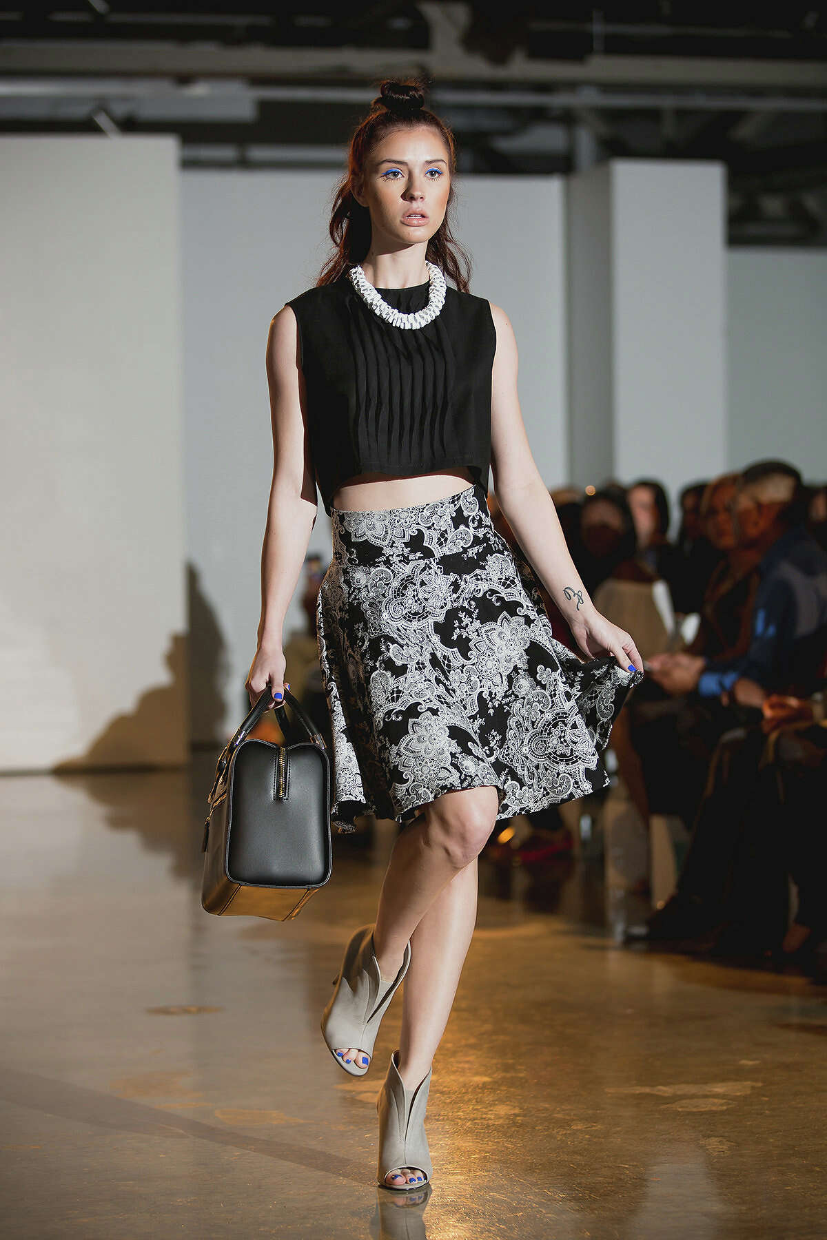 Here's a look from Samantha Plasencia's spring 2015 collection shown during Fashion Week San Antonio. The