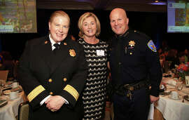 SFFD Chief Joanne Hayes-White (left) with Marjorie Muldowney and SFPD Chief Greg Suhr.