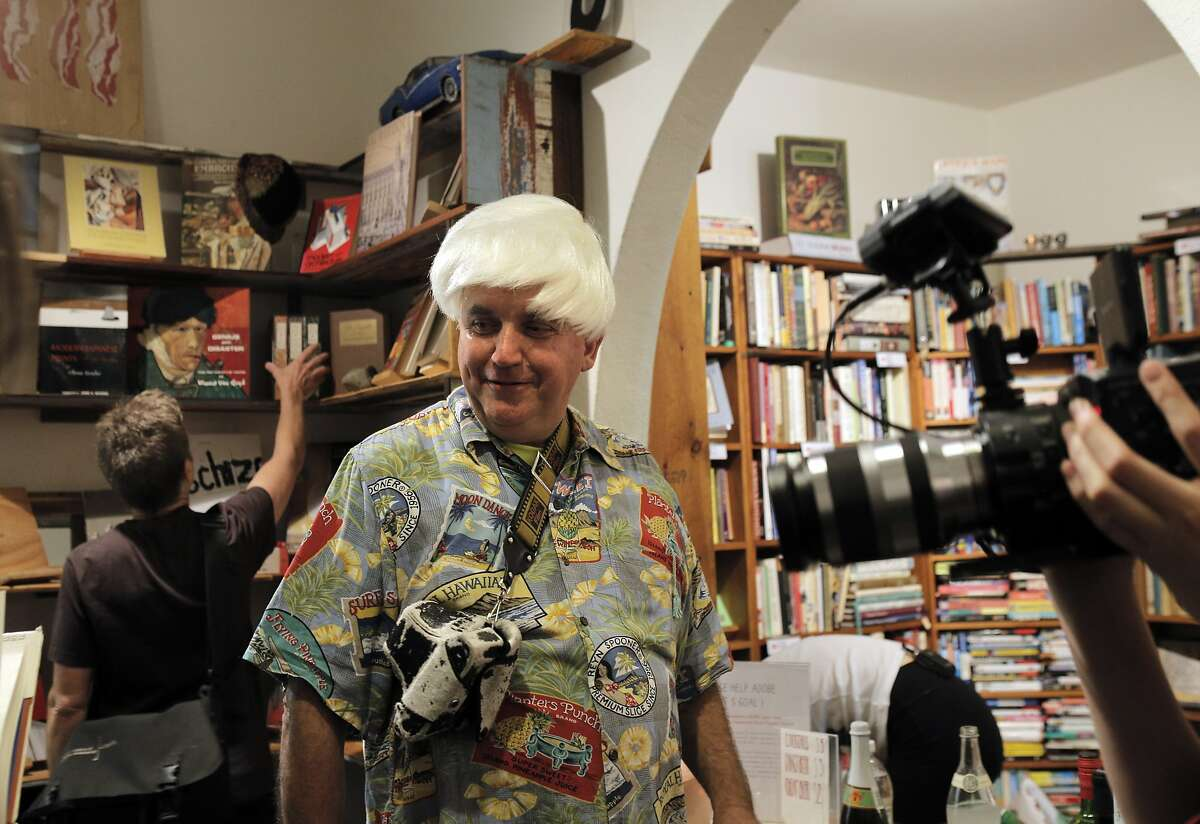 Adobe Books Founder Andrew Mckinley Dons A Platinum Wig During An  Anniversary Party At Adobe Books & Arts Cooperative  Photo By Carlos  Avila Gonzalez