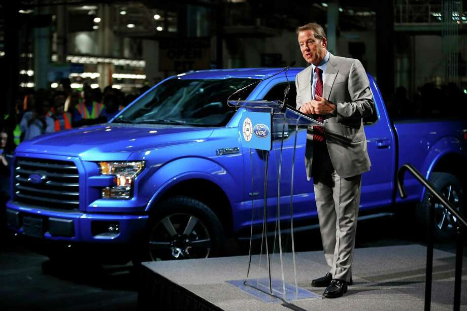 Bill Ford Jr., Ford Motor Company Executive Chairman, speaks about the 2015 F-150 at the Dearborn Truck Plant in Dearborn, Mich., Tuesday, Nov. 11, 2014. The aluminum-sided F-150 could set a new industry standard — or cost the company its pickup truck crown. (AP Photo/Paul Sancya) Photo: Paul Sancya, STF / AP