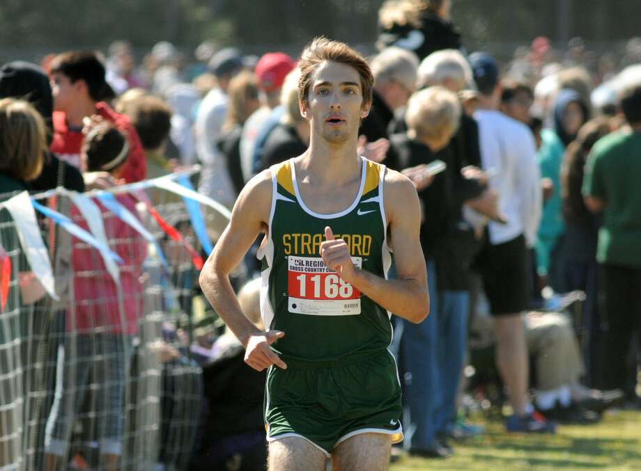 Stratford senior Austin Richard won five races this season and led the Spartans to the state title. Photo: Jerry Baker, Freelance