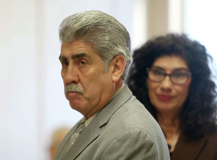 Harris County Precinct 6 Constable Victor Trevino, accused of diverting money from his nonprofit charity for his personal use, in the hallway before opening arguments in 185th District Criminal Court of Judge Susan Brown at the Harris County Criminal Justice Center Friday, Oct. 31, 2014, in Houston, Texas. ( Gary Coronado / Houston Chronicle ) Photo: Gary Coronado, Staff / © 2014 Houston Chronicle
