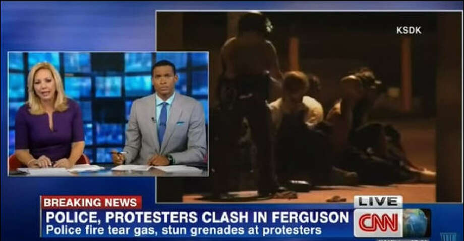 During a segment on the Ferguson protests, CNN international anchor Rosemary Church drew sharp criticism for suggesting water cannons be used to disperse protestors. Critics say it would be a return to the ghastly scenes from the American civil rights protests of the 1960s where water cannons were used for that very same purpose. Photo: BreakingNews!, CNN