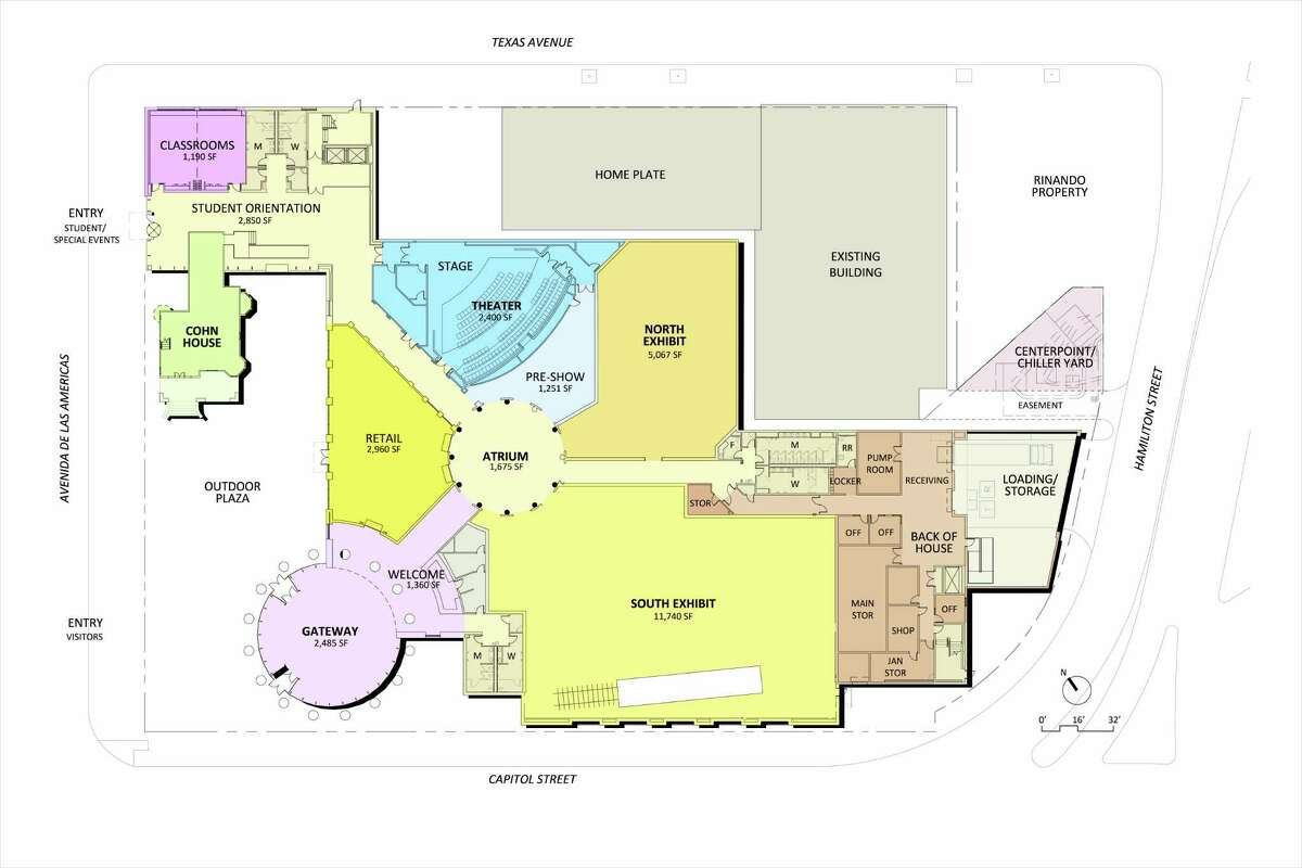 A site map of the Nau Center for Texas Cultural Heritage, a new