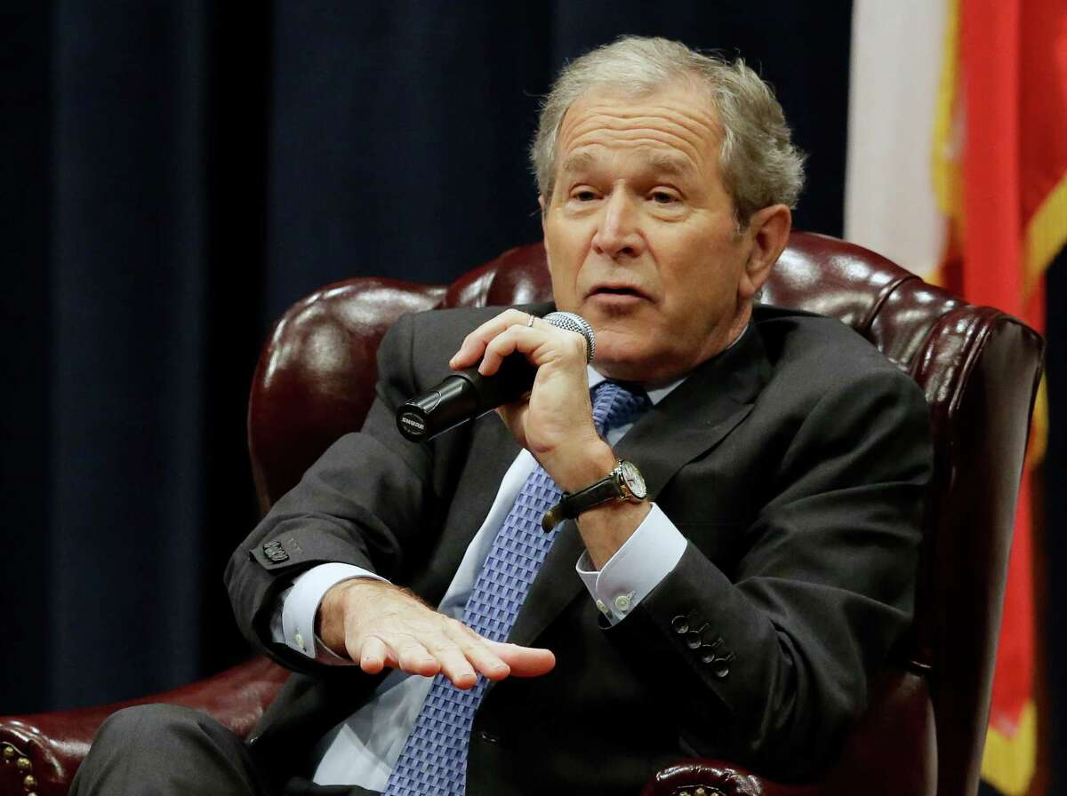 Former U.S. President George W. Bush That one time he launched the War on Terror and the Iraq War.