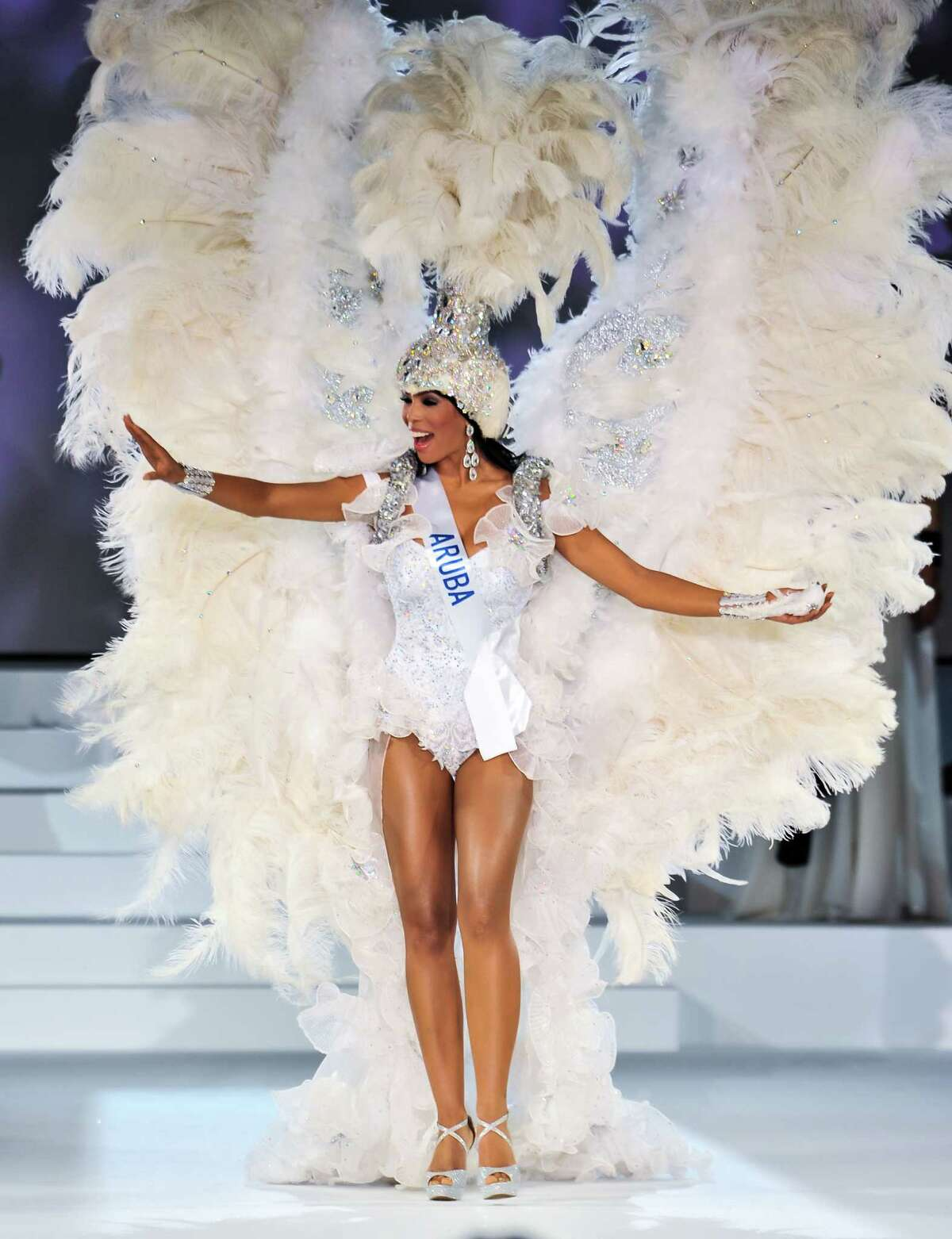 Miss Aruba Francis Massiel Sosa competes during The 54th Miss International Beauty Pageant 2014 at Grand Prince Hotel New Takanawa on November 11, 2014 in Tokyo, Japan.