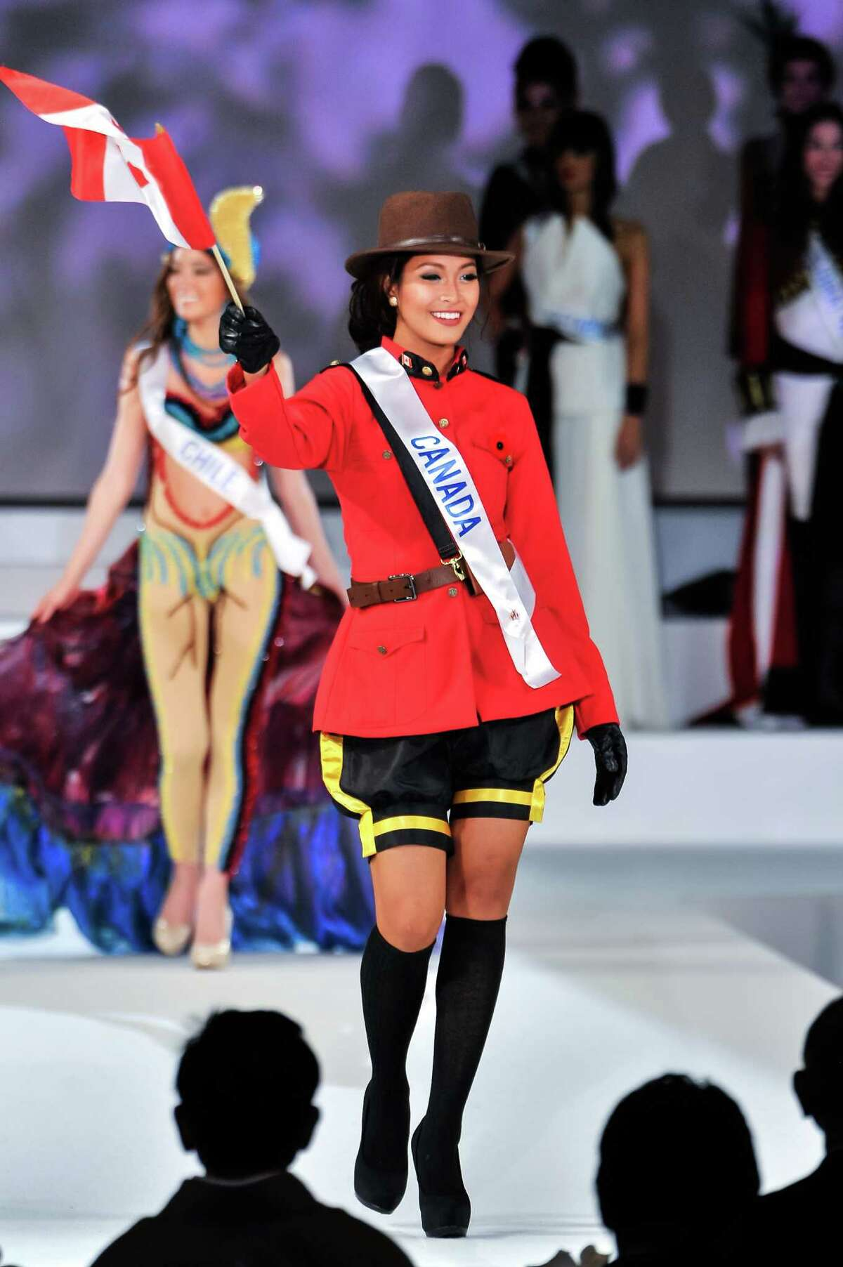 Miss Canada Kesiah Papasin competes during The 54th Miss International Beauty Pageant 2014 at Grand Prince Hotel New Takanawa on November 11, 2014 in Tokyo, Japan.