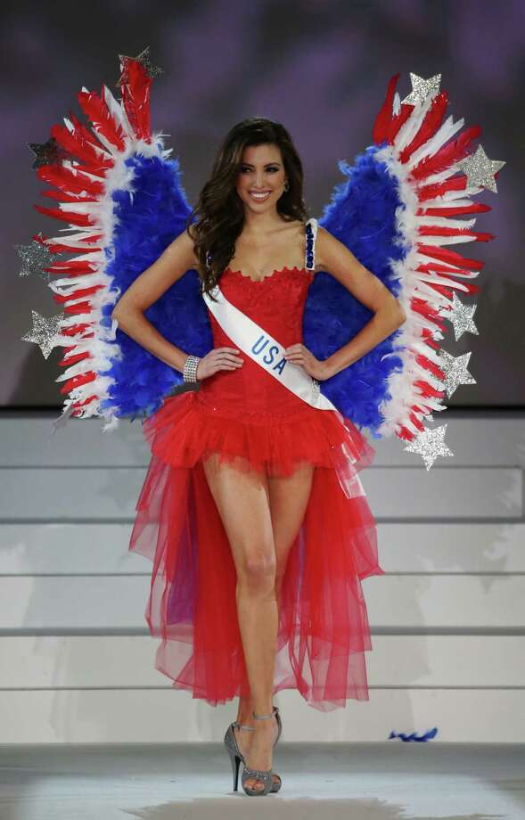 Miss USA Samantha Brooks competes in the costume competition during the final of Miss International Beauty Pageant in Tokyo, Tuesday, Nov. 11, 2014. Photo: Eugene Hoshiko, Associated Press / AP
