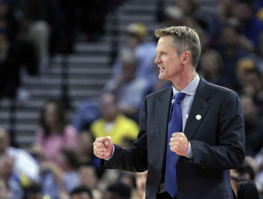 Steve Kerr's first year as the Warriors' coach has gone much better than many oddsmakers thought it would. Photo: Carlos Avila Gonzalez / Carlos Avila Gonzalez / The Chronicle (2014) / ONLINE_YES