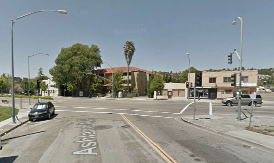A 14-year-old boy died Tuesday evening after being struck by a car at E. 14th Street and Ashland Ave. that was being chased by Alameda County sheriff's deputies. Photo: Google Maps