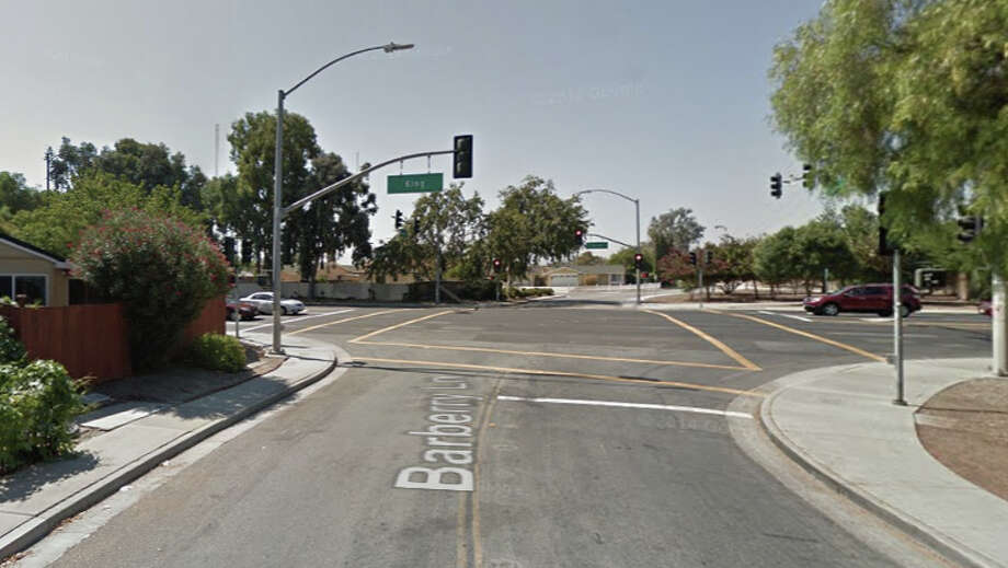 A woman was killed Tuesday after being struck by a car near Barberry Lane and South King Road in San Jose. Photo: Google Maps