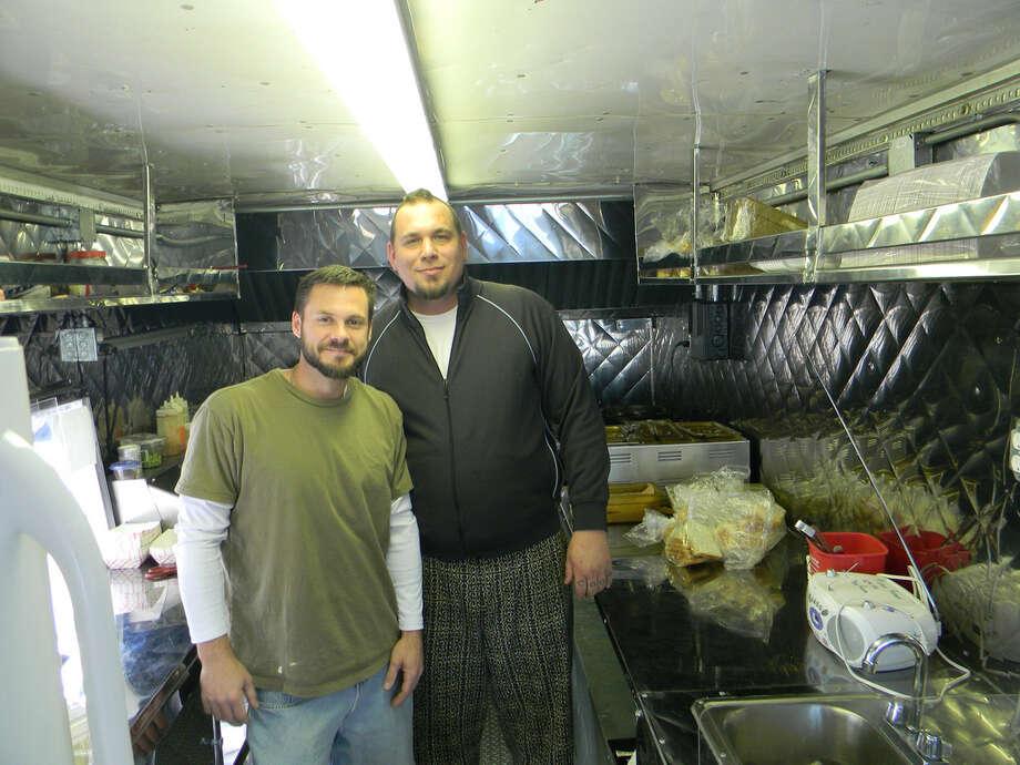 Matt Opaleski, left, and Jason Hill, the team behind H-Town StrEATS food truck, will be at the Best Damn Food Truck Festival. Photo: Paul Galvani