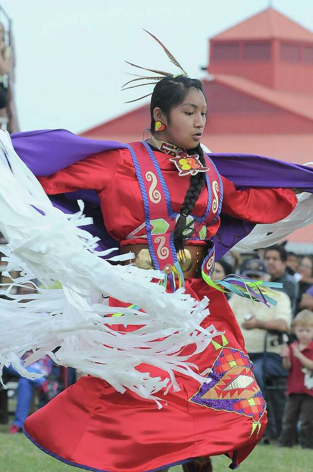 Alexis Gaines performs during the Texas Championship Pow Wow dance competition at Traders Village last year. Photo: Â Tony Bullard 2013, Freelance Photographer / © 2013 Tony Bullard