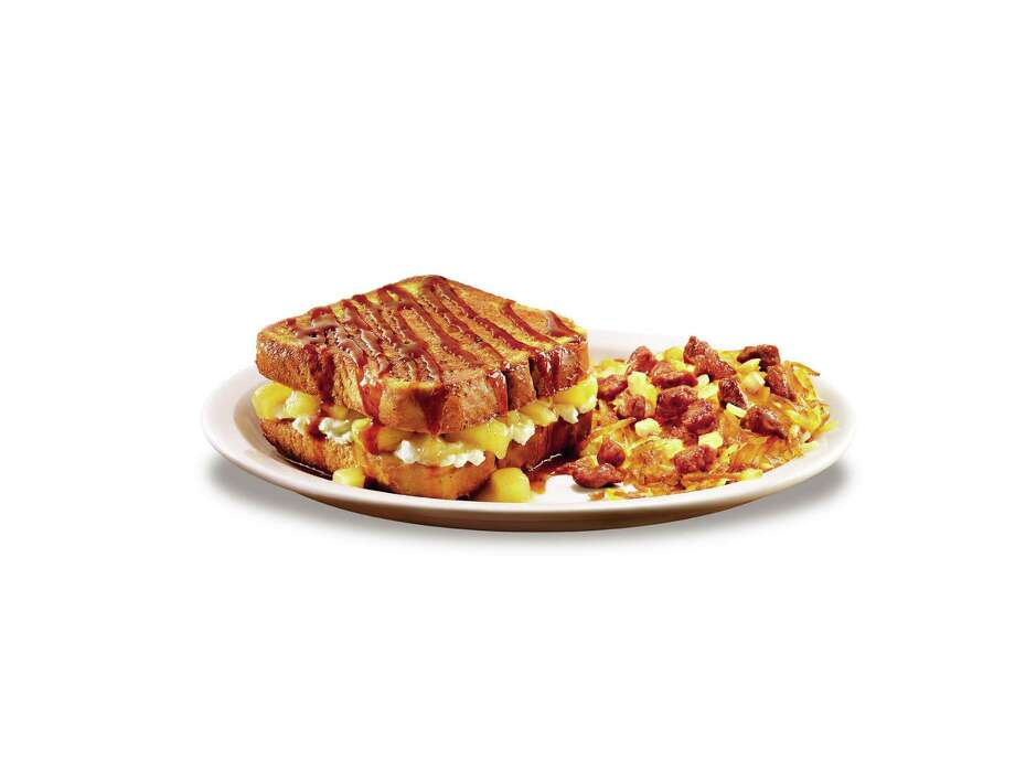 Apple Danish Stuffed French Toast is available for a limited time at Denny's. Photo: --