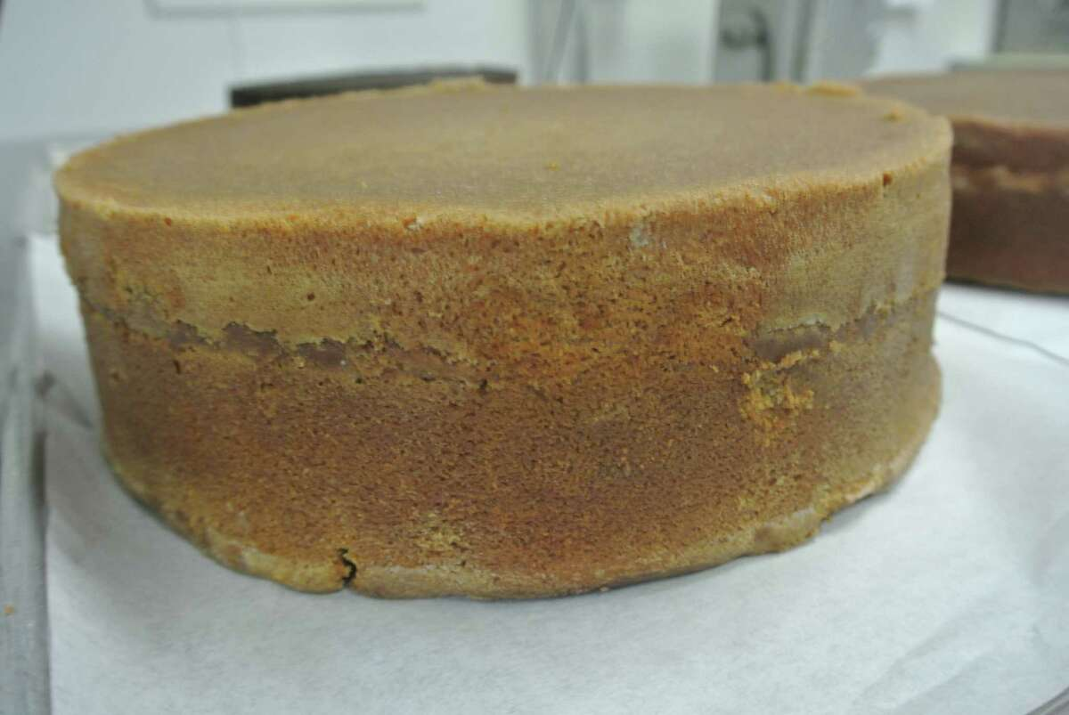 Then bake it inside this tasty Spice cake to form the lower layer.