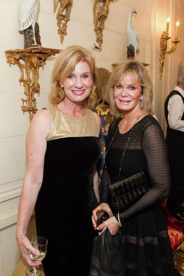 Karen Walker and Sandra Jones at a reception for Festival Del Sole hosted by Ann and Gordon Getty on November 4, 2014. Photo: Drew Altizer Photography / Drew Altizer Photography