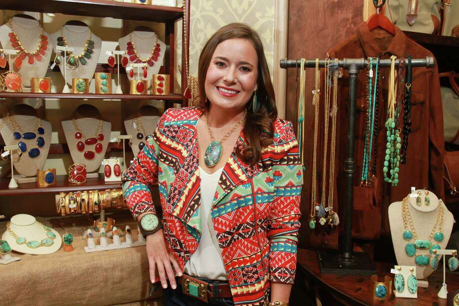 Jewelry designer Christina Greene will make her first appearance at the Nutcracker Market this year. Shoppers might remember her from the Houston Livestock Show and Rodeo in March. Photo: Gary Fountain, Freelance / Copyright 2014 by Gary Fountain