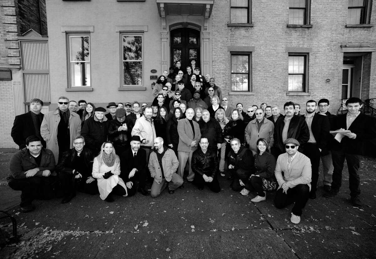 Capital Region jazz musicians gather for a group photo inspired by the historic Art Kane photo,