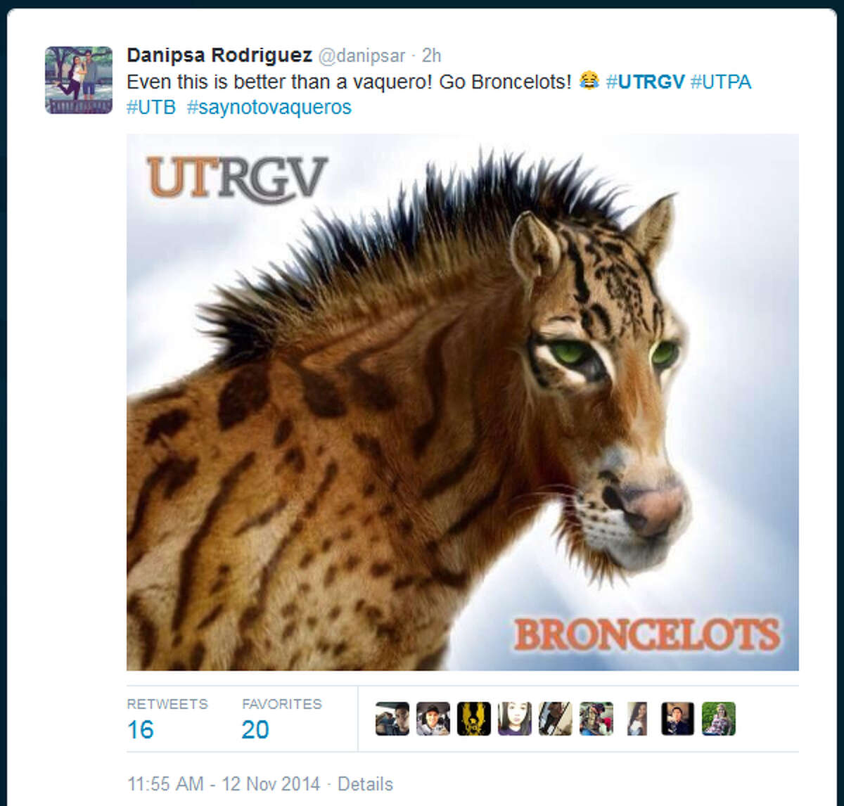 University of Texas Rio Grande Valley President Guy Bailey recommended to UT regents on Wednesday that the new university adopt Vaqueros as its mascot. Students wasted no time lampooning the suggestion on Twitter.