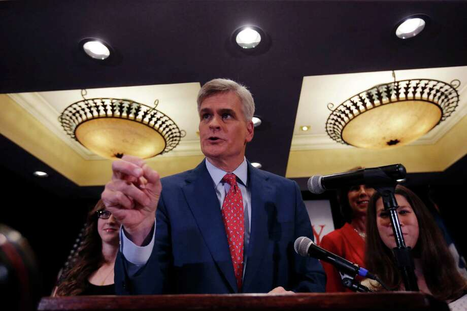 Louisiana Republican Senate candidate Rep. Bill Cassidy speaks to supporters during his election night watch party in Baton Rouge, La., last week. Republicans have promised Cassidy a seat on the Senate's energy committee if he defeats Sen. Mary Landrieu in the state's runoff election next month. The move undercuts one of Landrieu's chief campaign arguments, that voters in the state with a robust oil and gas industry need her and her seniority on the committee. Photo: Gerald Herbert / Associated Press / AP