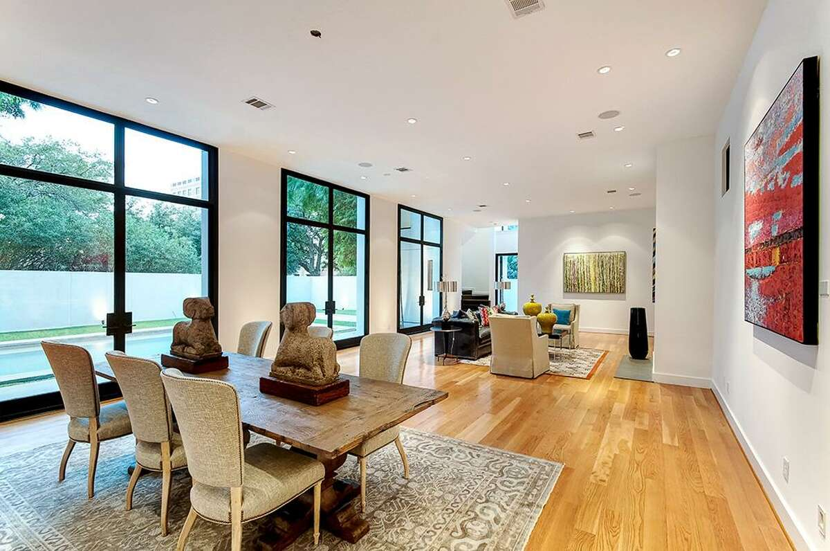 5331 Cherokee: The contemporary abode is right at home in the Museum District and comes with 4-5 bedrooms, 4 full and 2 half baths and a beautiful saltwater pool.
