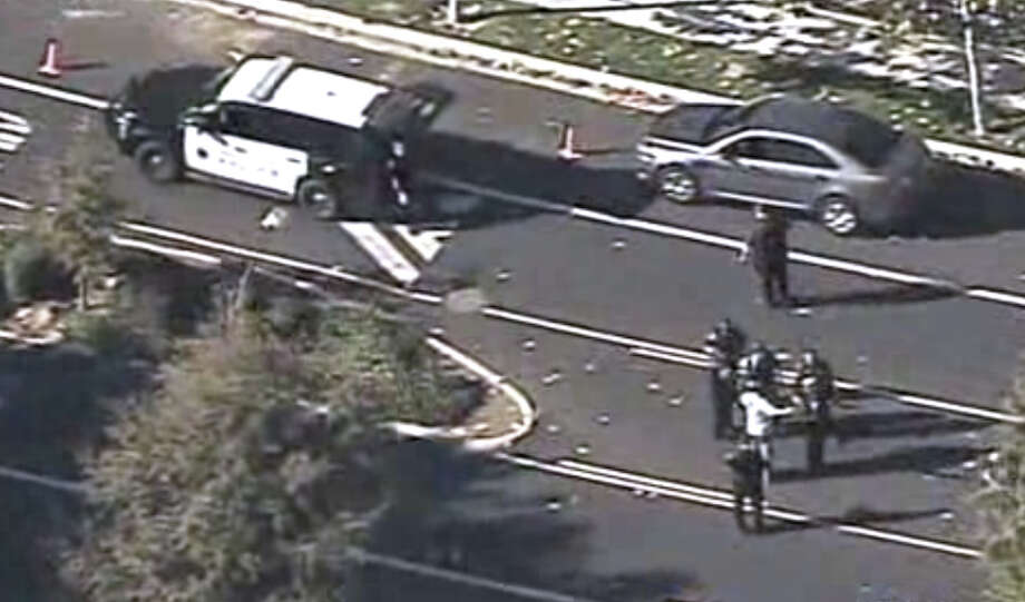 Menlo Park police shot and killed a suspected armed burglary suspect on Tuesday afternoon. Photo: CBS San Francisco